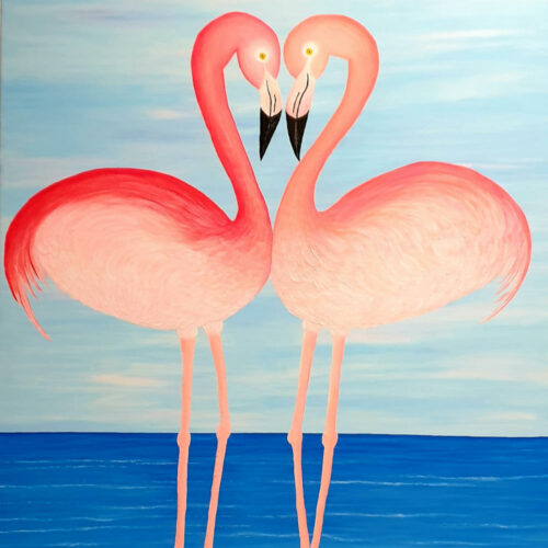Flamingos-in-Love