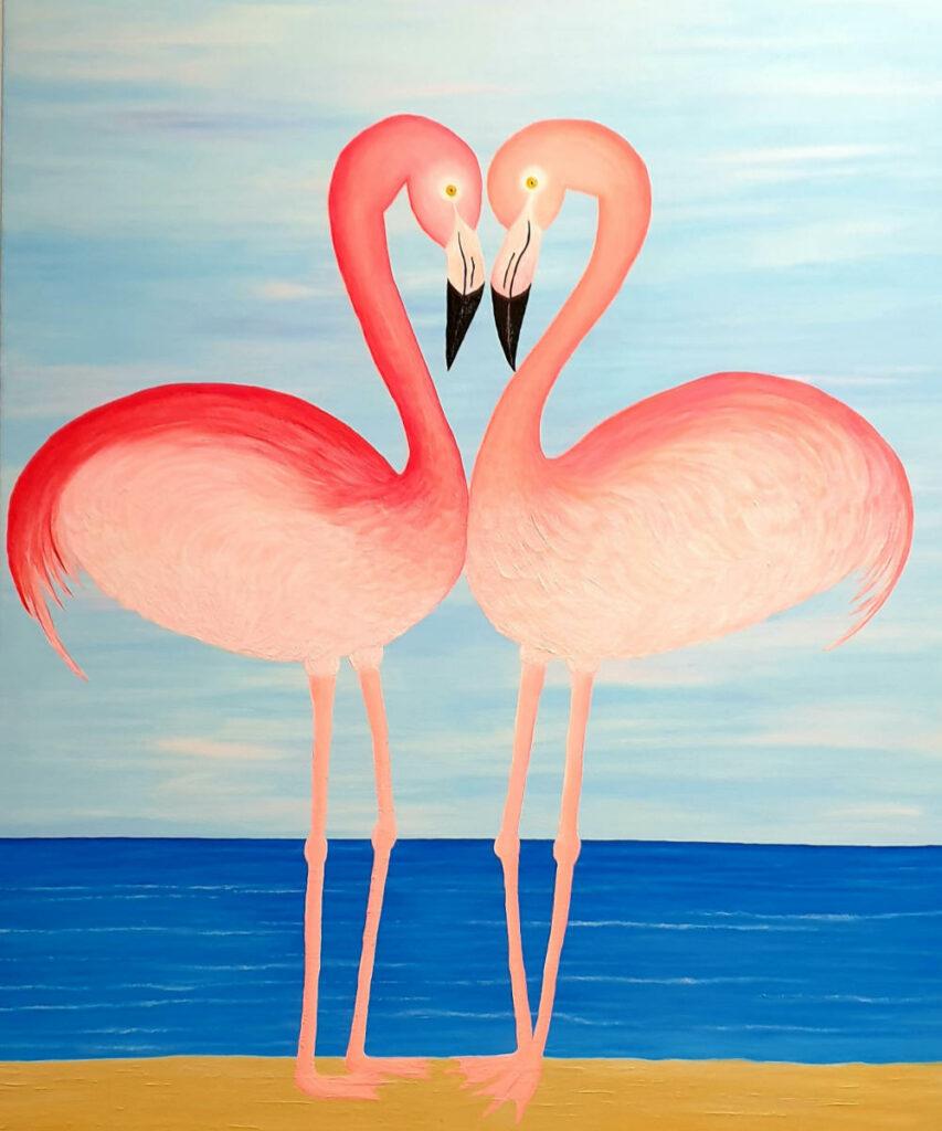 Flamingos-in-Love
